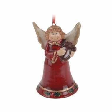 Kerstboom 1x kerstornamenten kerstengel hanger 8 cm versiering