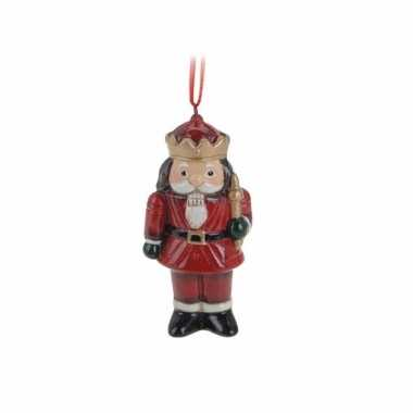 Kerstboom 1x kerstornamenten notenkraker hanger 8 cm versiering
