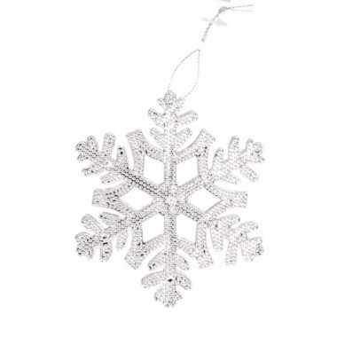 Kerstboom decoratie hanger sneeuwvlok versiering 10055105