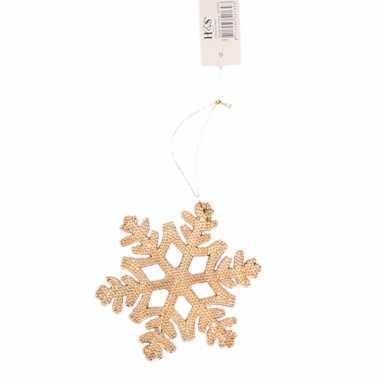Kerstboom decoratie hanger sneeuwvlok versiering