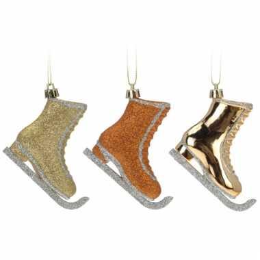 Kerstboom hangers schaats 6 stuks versiering