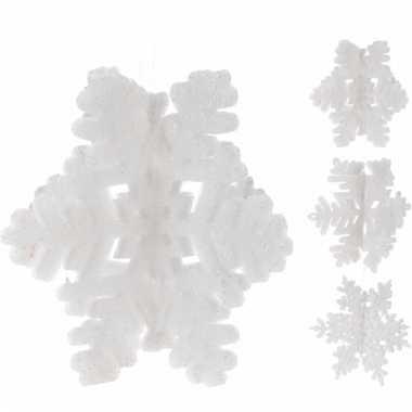 Kerstboom kerst decoratie sneeuwvlok glitter versiering