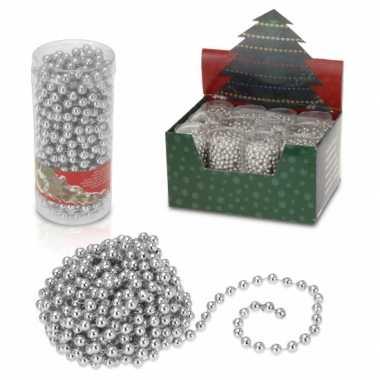 Kerstboom kralenslinger 7 5 meter zilver versiering