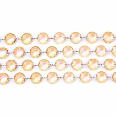 Kerstboom tafeldecoratie goud kristal slinger versiering for Versiering goud