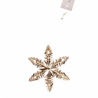 Koperkleurige kerstboom hanger ijsbloem versiering